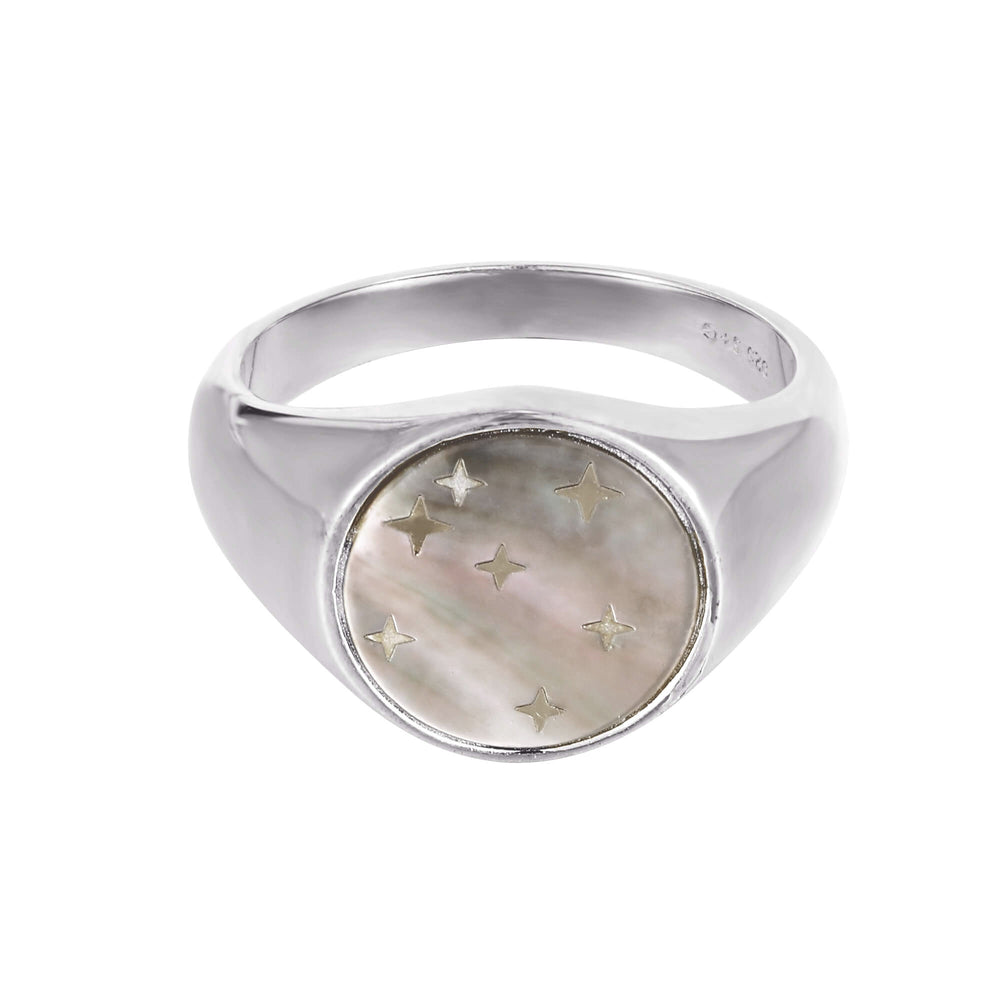silver signet ring - seolgold
