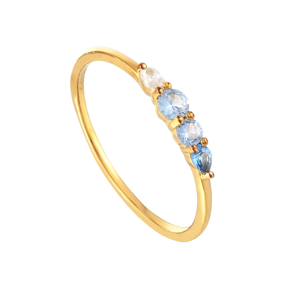 Blue CZ Ring - seol-gold