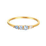 Blue Ombre CZ Ring - seol-gold