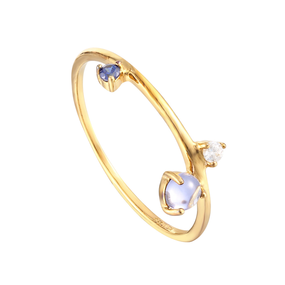 moonstone gold ring - seolgold
