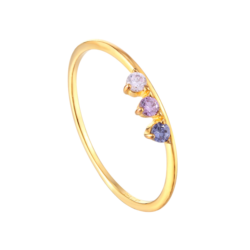 gold amethyst ring - seolgold