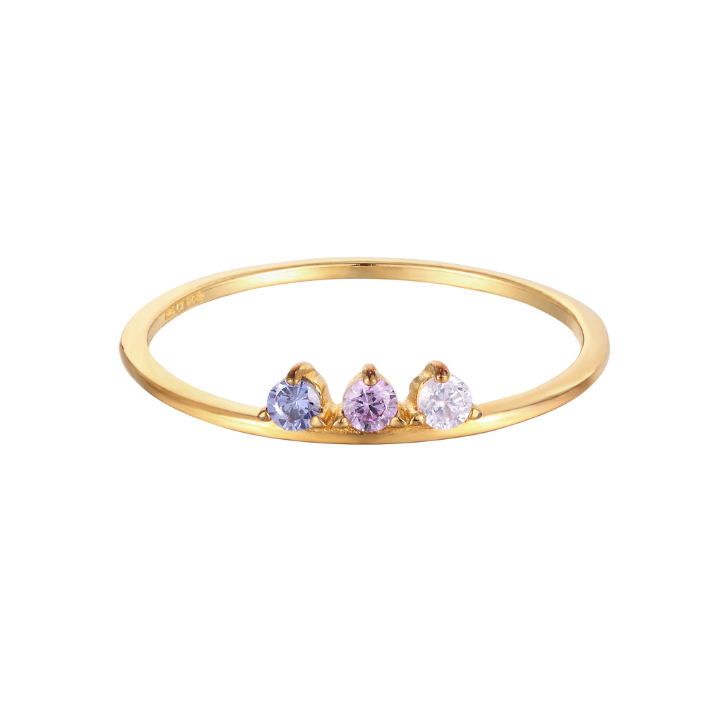 Ombre Triple CZ Ring