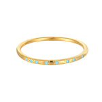 Turquoise Studded Eternity Ring