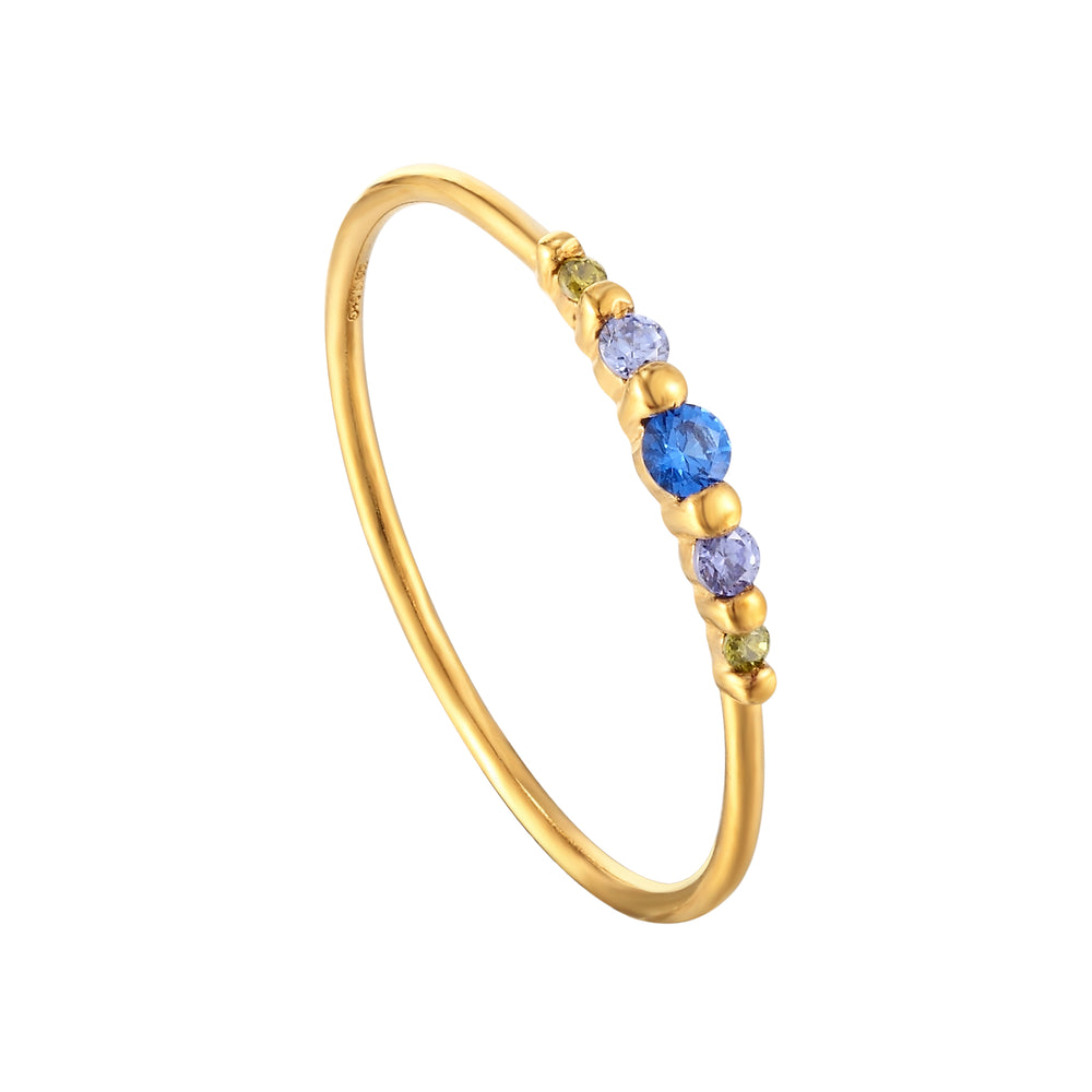 gold gemstone ring - seolgold