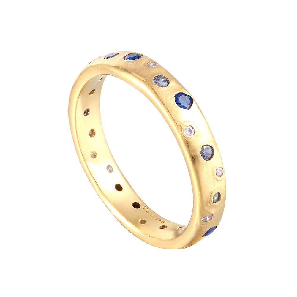 CZ Blue Eternity Ring