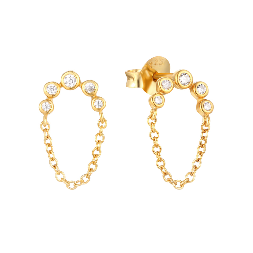 gold stud earrings - seol-gold