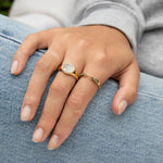 constellation signet ring - seol-gold