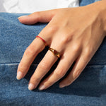 Heart Signet Ring - seol-gold