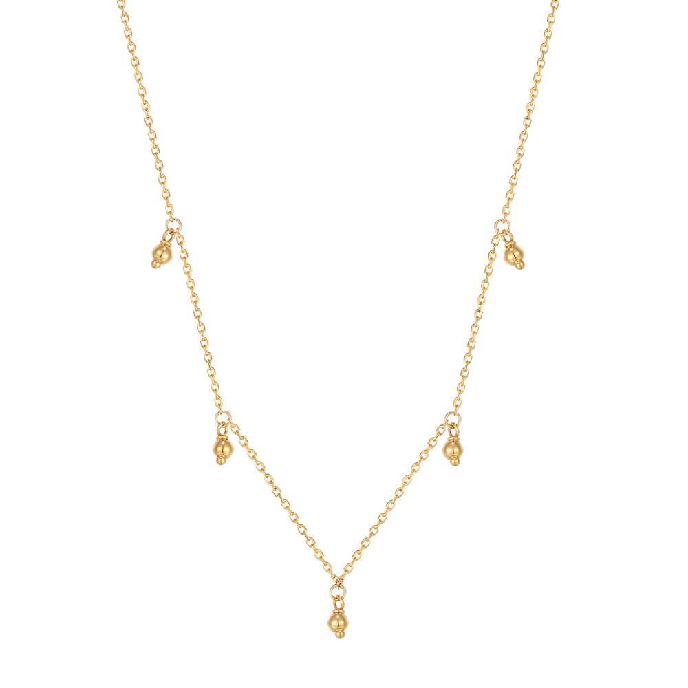 Bead charm Necklace - seol-gold