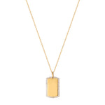 gold dog tag necklace- seol gold