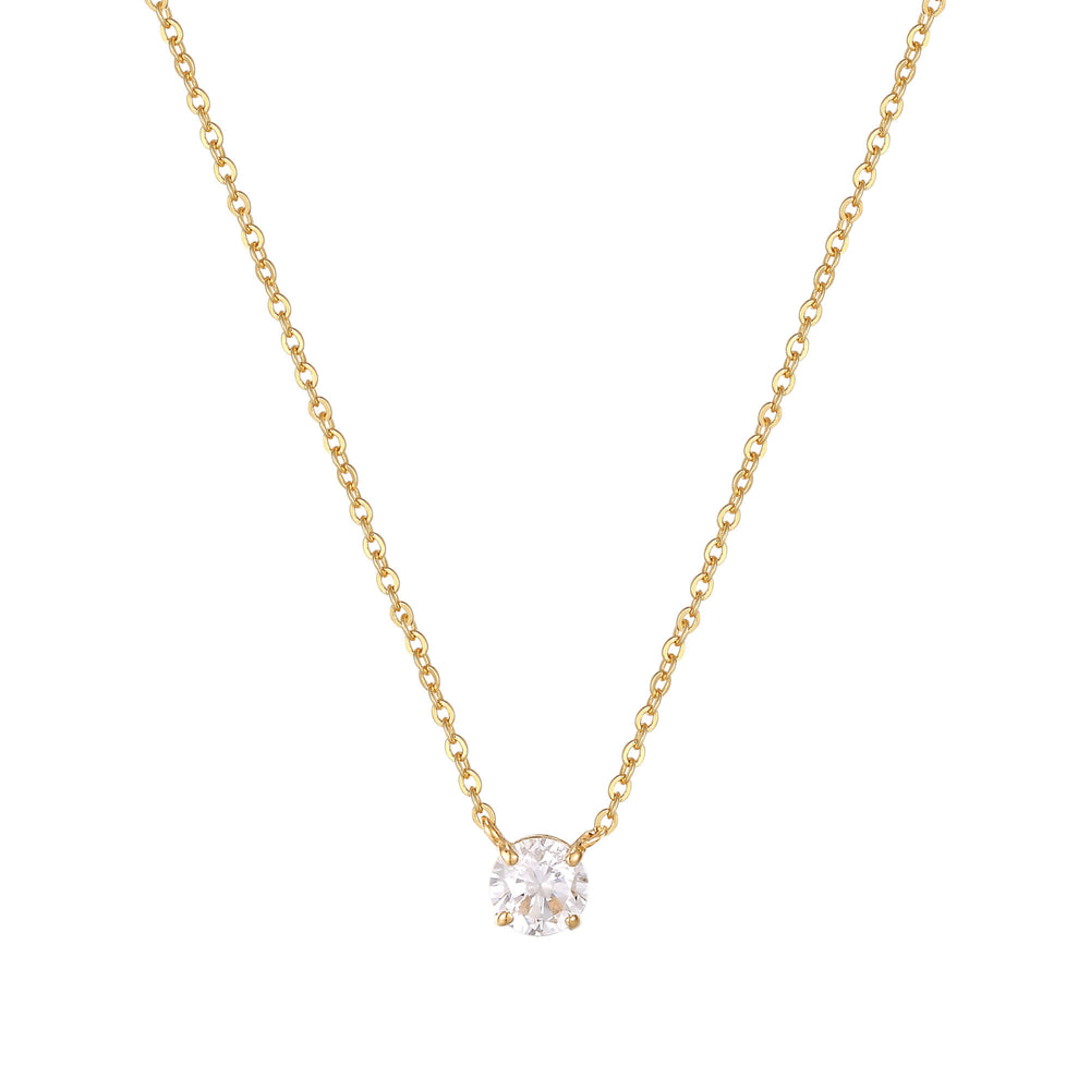 9ct Gold Solitaire Necklace