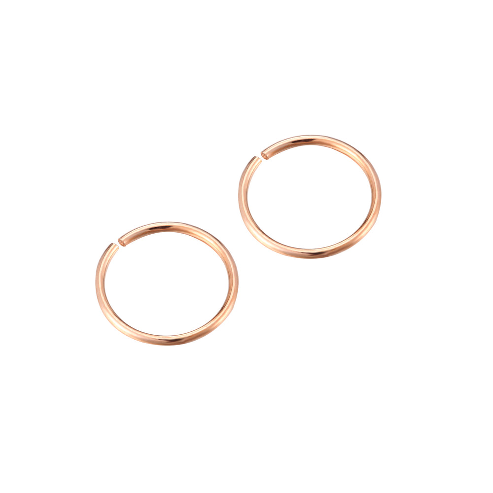 rose gold cartilage earrings - seol-gold
