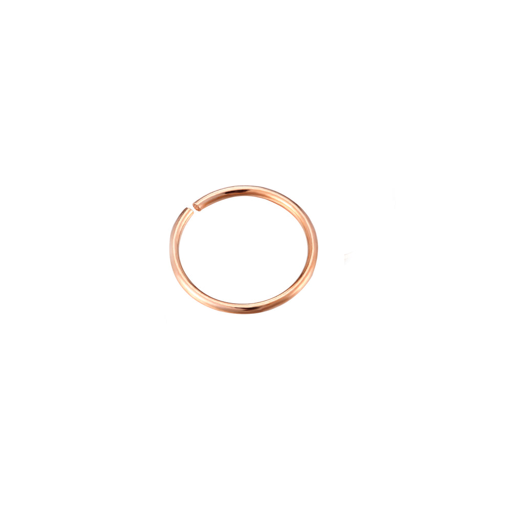 9ct Rose Gold Wire Hoop - seol-gold