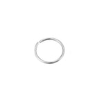 9ct White Gold Wire Hoop - seol-gold