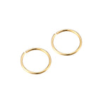 9ct Gold Wire Hoops