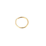 9ct Gold Wire Hoop - seol-gold