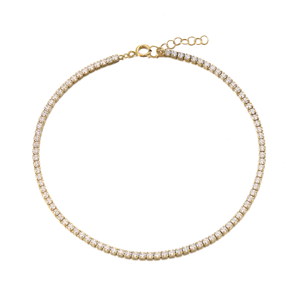 tennis anklet -seol gold