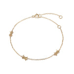 barbed wire bracelet - seol-gold