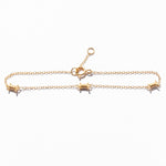 Triple Barbed Wire Charm Bracelet - seol-gold