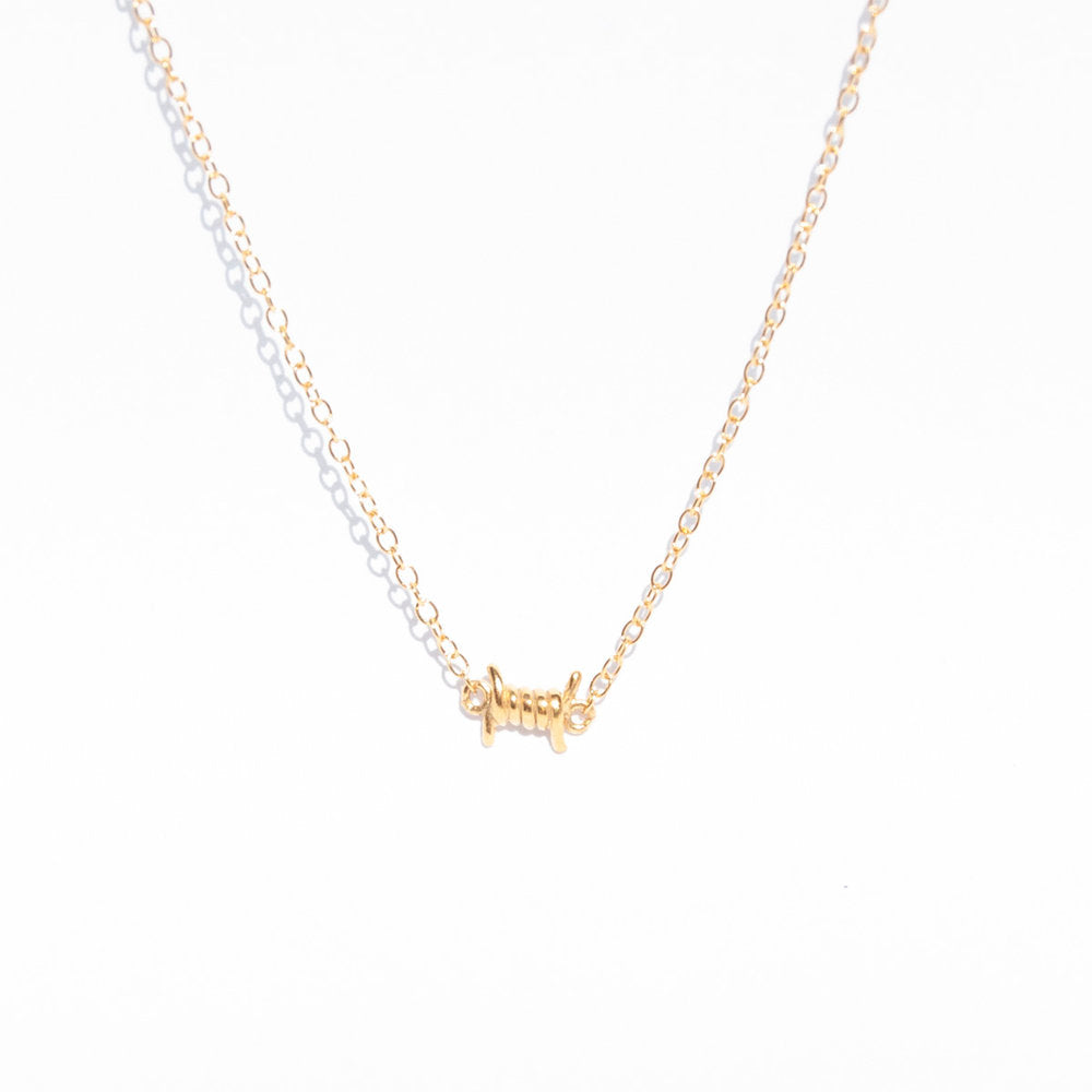 Barbed Wire Necklace - seol-gold
