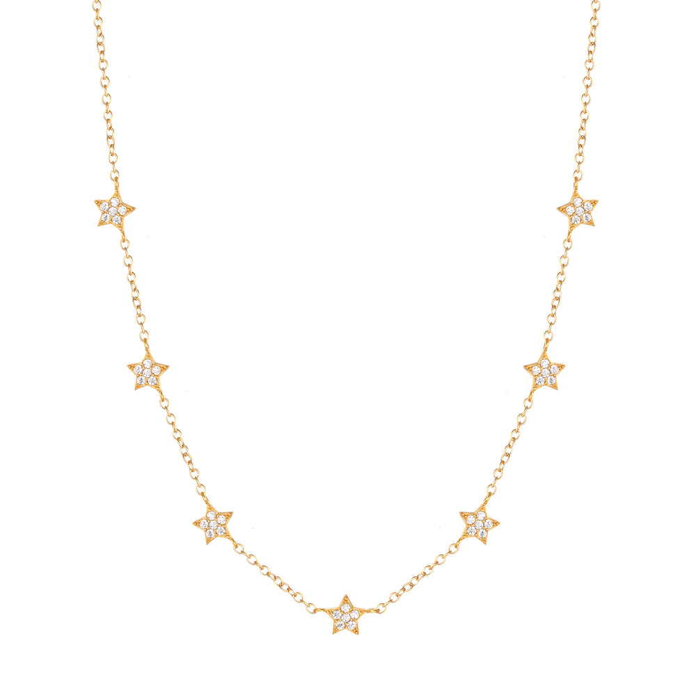 CZ Star Choker Necklace