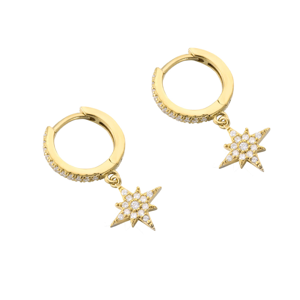 gold star hoops - seolgold