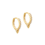 Cz Spike Hoop Earrings