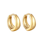 Chunky Small Cashew Hoops - seol-gold