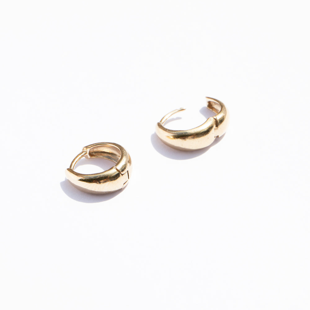 Sterling silver hoops - seol-gold