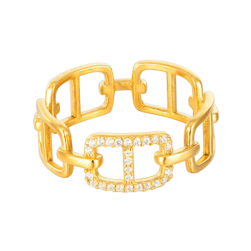 Buckle CZ Ring