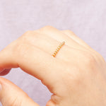 Gold Dot Bead Stacking Band Ring - seol-gold