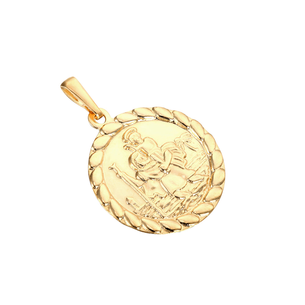 9ct Gold St Christopher Medallion