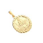 Gold St Christopher Medallion - seol-gold