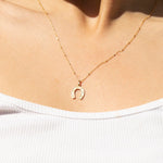 Gold Horseshoe Pendant - seol-gold