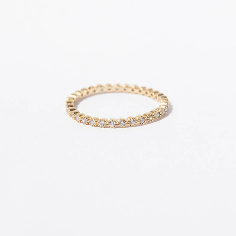 Baby CZ Eternity Band - seol-gold