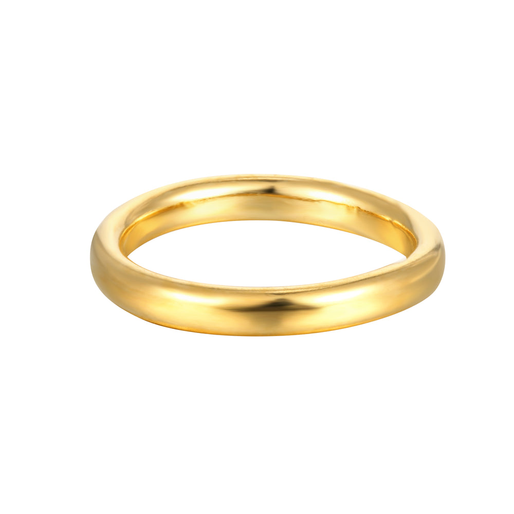 Rounded Thick Plain Band - seol-gold