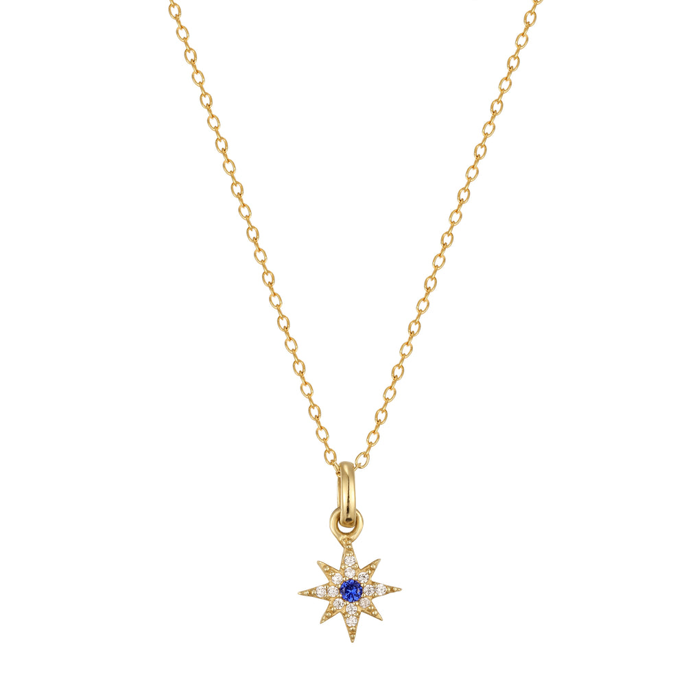star - sapphire necklace - seolgold
