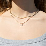Sapphire CZ North Star necklace - seol-gold