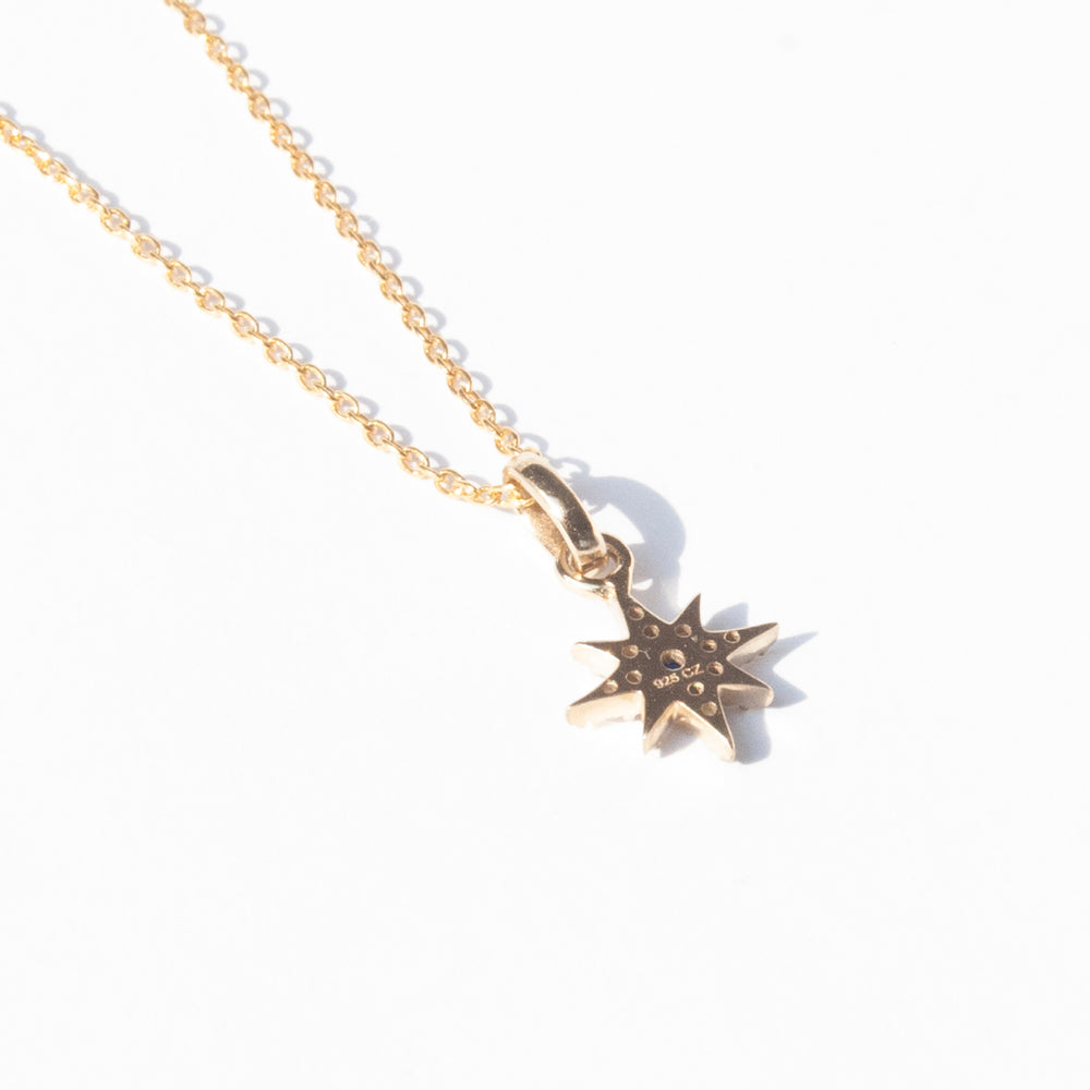 Sapphire necklace - seol-gold