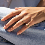gold cz ring - seol-gold