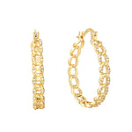 crystal hoops - seol gold