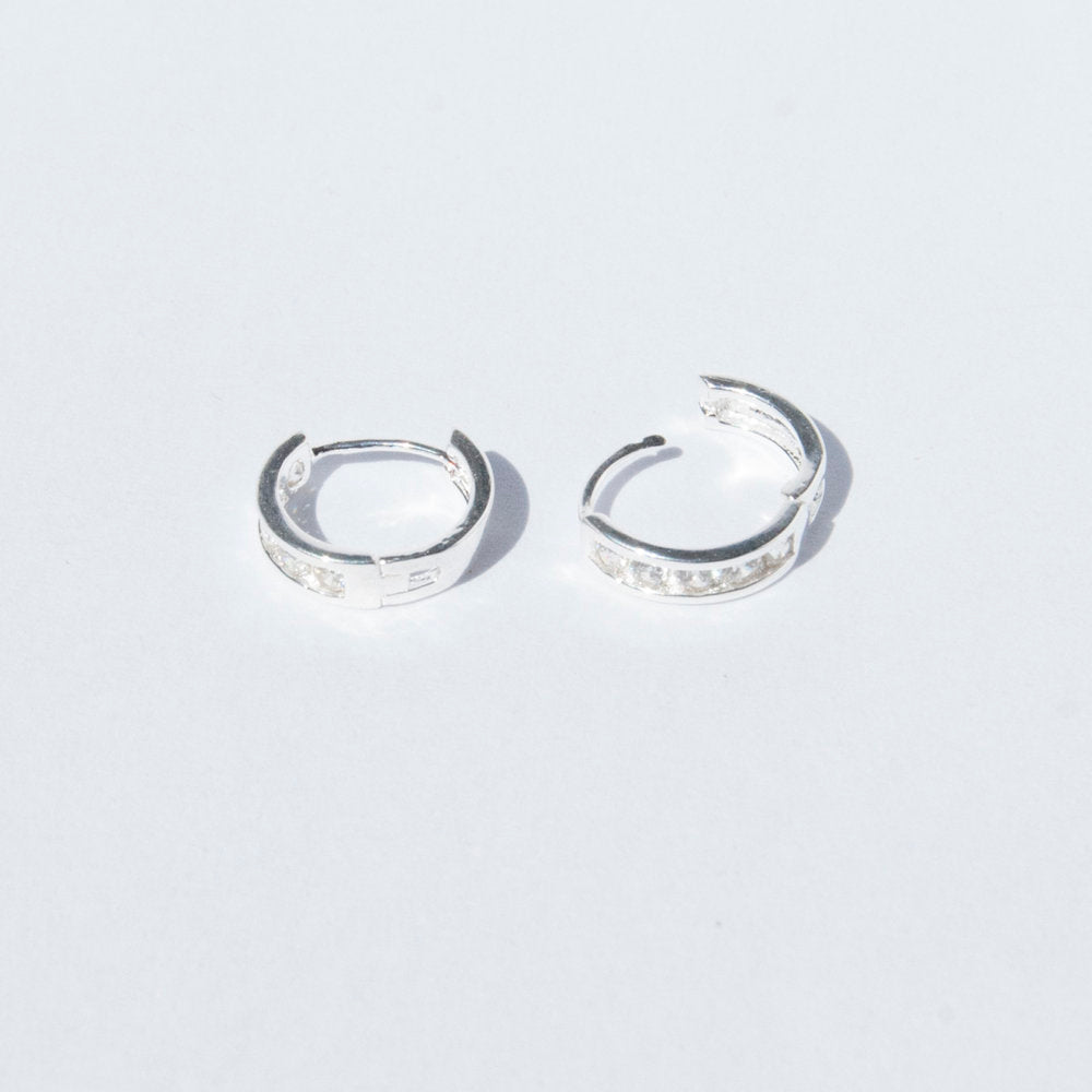 Silver CZ earrings - seol-gold