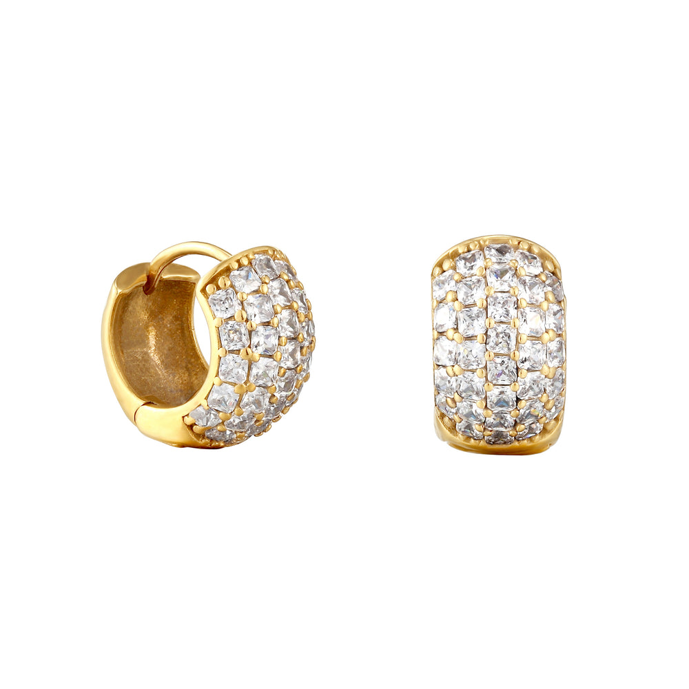 pave hoops - seol gold