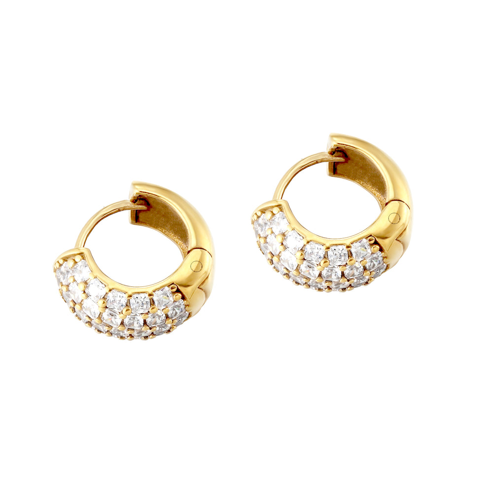 pave earring - seol gold
