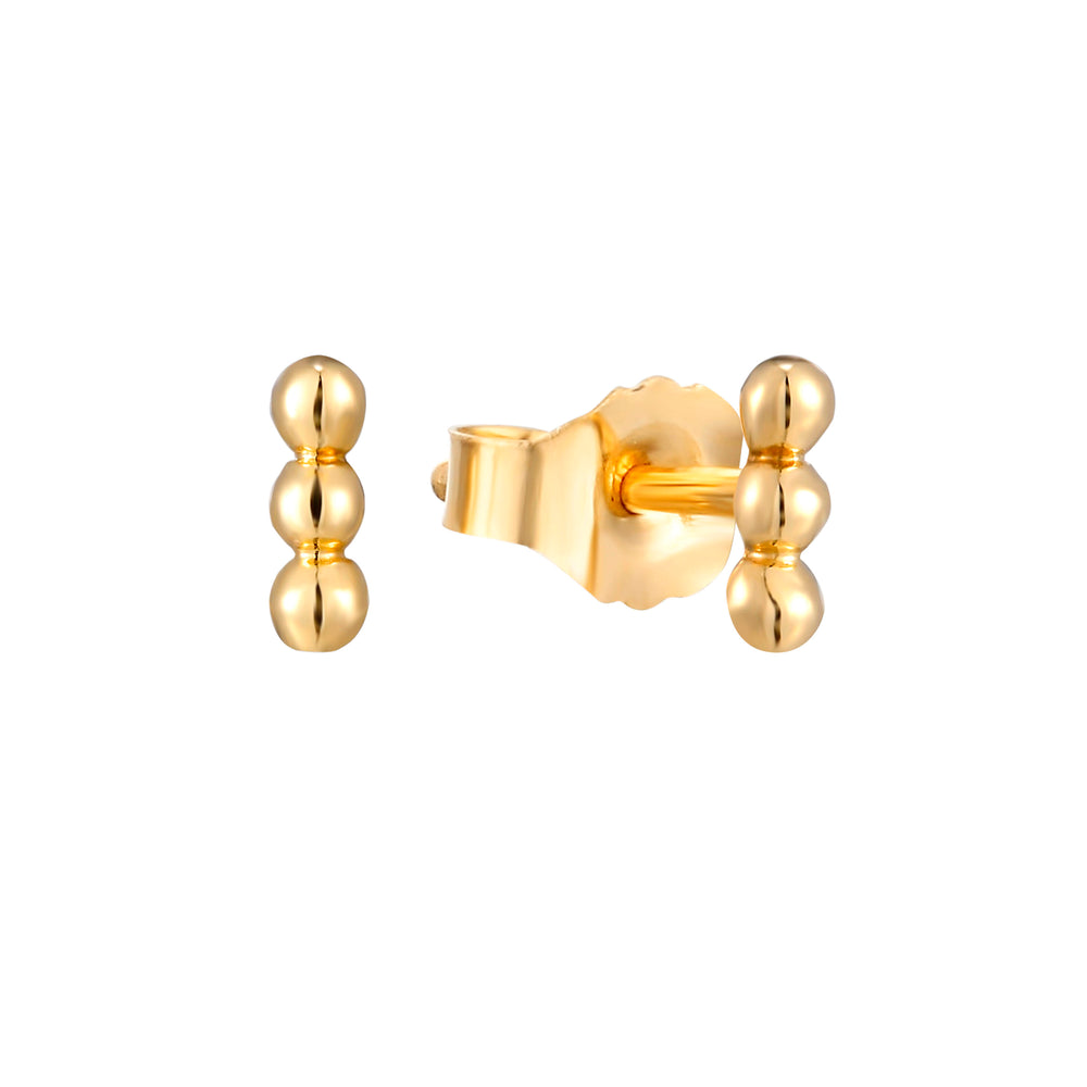 9ct Gold Dot Studs - seol-gold