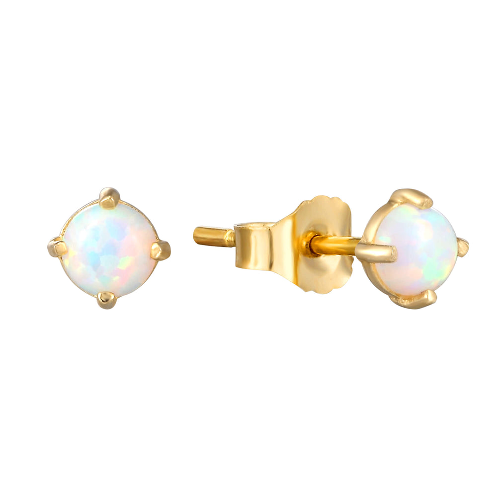 gold opal earrings - seolgold