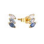9ct Gold Ombre CZ Stud Earrings
