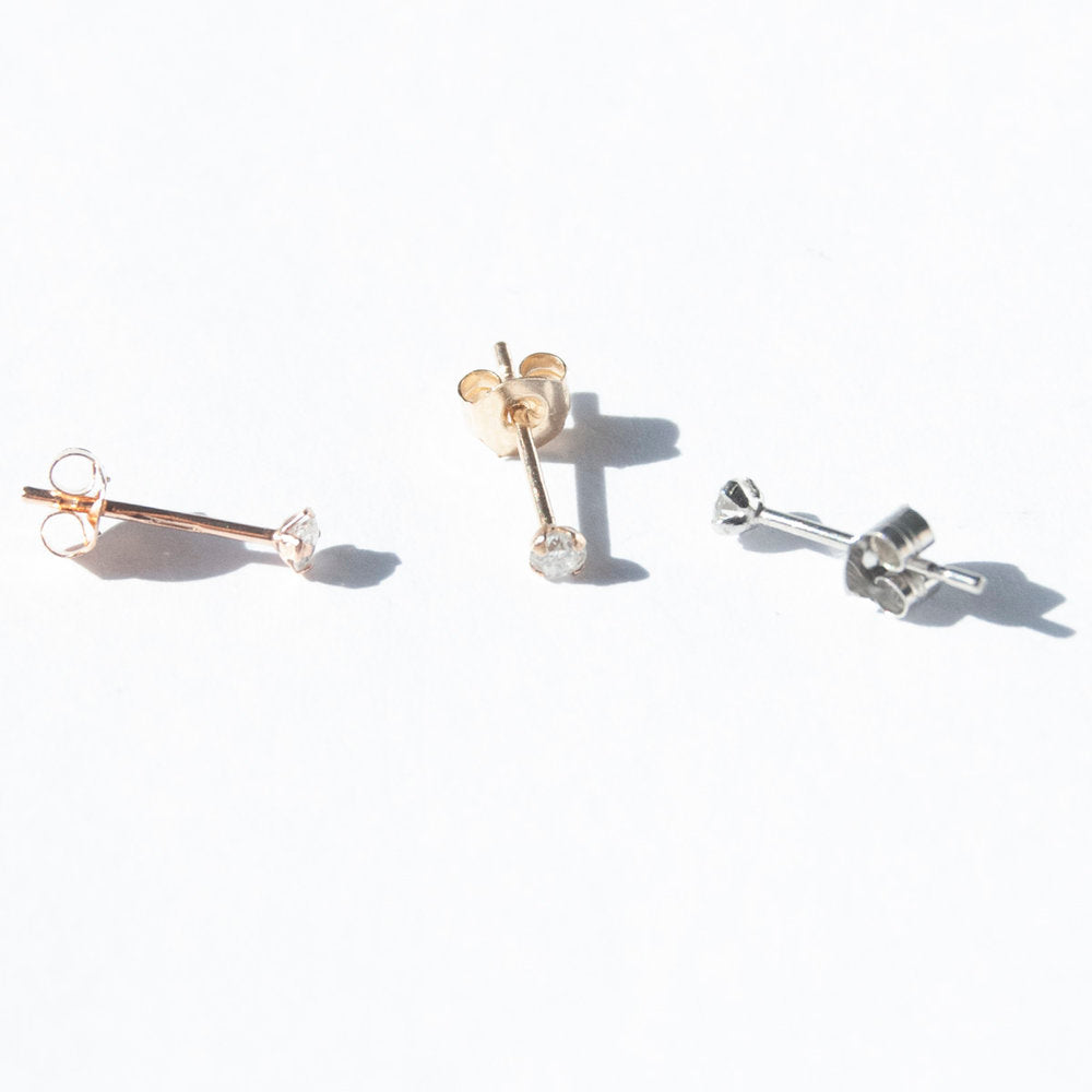 9ct Gold Baby Diamond Studs - seol-gold
