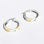 big silver hoops - seolgold