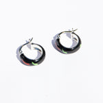 painted silver hoops - seolgold